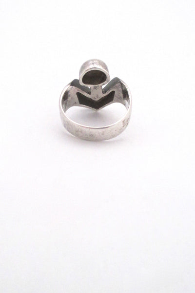 Georges Delrue sculptural silver ring