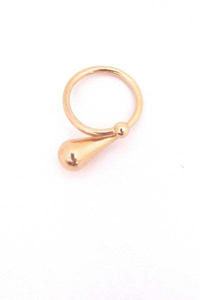 Elis Kauppi modernist ring in 14k gold