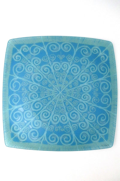 Higgins USA fused glass large platter at Samantha Howard Vintage