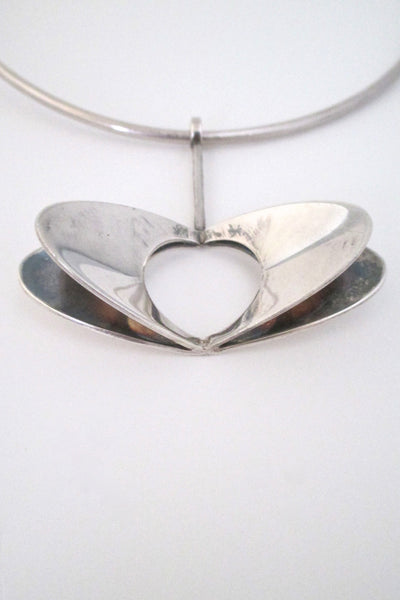 detail Alton Sweden large mid century modernist silver pendant designed by Theresia Hvorslev