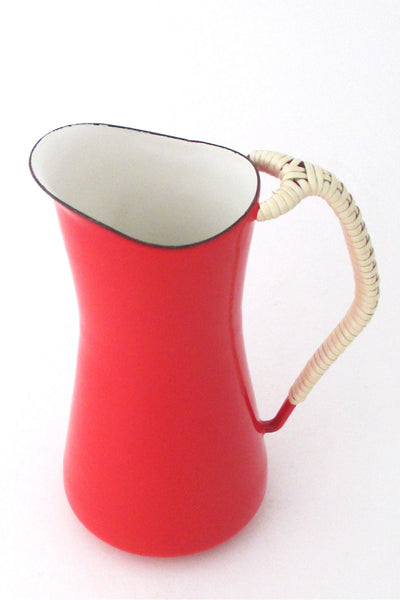 Dansk Denmark Kobenstyle red enamel pitcher by Jens Quistgaard early mark