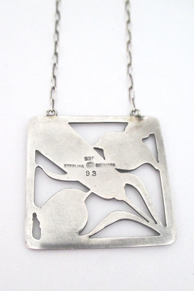 Georg Jensen birds & wheat pendant necklace #93 - Arno Malinowski