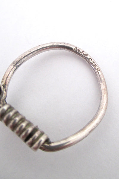 Rafael Canada sterling wrapped silver hook ring