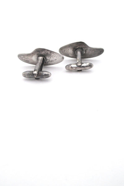 Otto Robert Bade biomorphic silver cufflinks