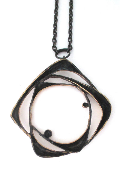 Sten & Laine large bronze 'loops' pendant necklace