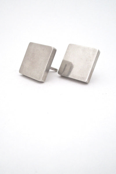 la Cucaracha Taxco Mexico vintage sterling silver large square cufflinks