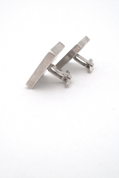 profile la Cucaracha Taxco Mexico vintage sterling silver large square cufflinks