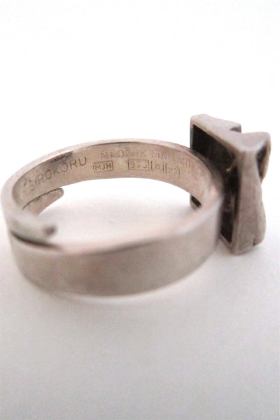 Matti Hyvarinen 'bark square' ring