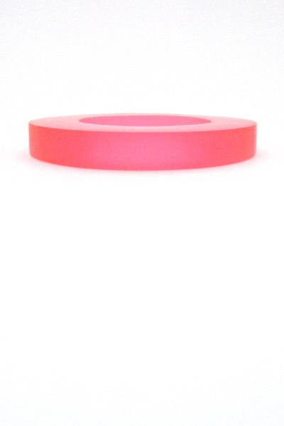 profile Martha Sturdy Canada vintage large clear bright pink resin bangle bracelet 1980s