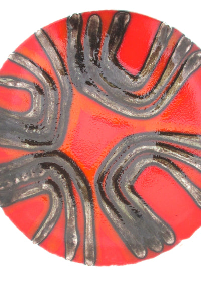 detail Poole Pottery England vintage mid century modern Delphis dish by Margaret Anderson