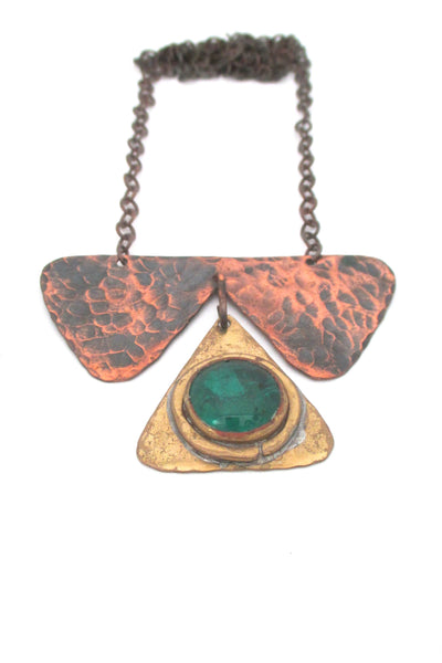 Rafael Alfandary Canada copper & brass kinetic pendant necklace