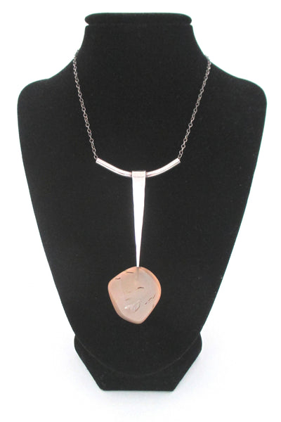 Erling Christoffersen for Plus Designs long stone pendant necklace