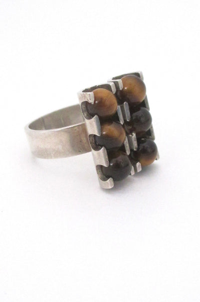 Elis Kauppi for Kupittaan Kulta Finland vintage modernist ring at Samantha Howard Vintage