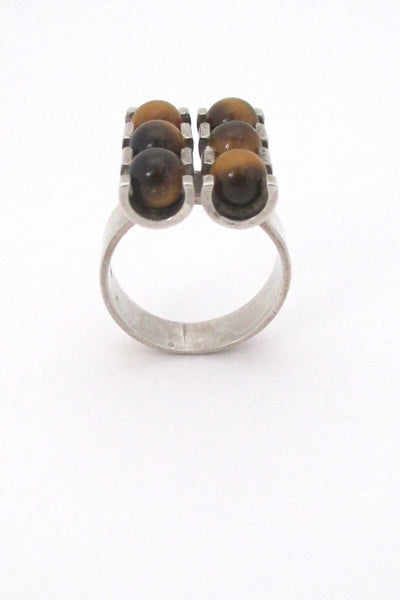 Elis Kauppi 6 stone tigers eye ring