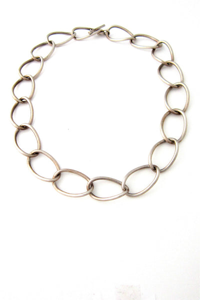 John Lauritzen, Denmark silver large link necklace