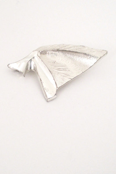Matti Hyvarinen textured silver brooch
