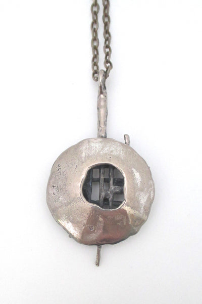 Robert Larin pierced pewter pendant necklace