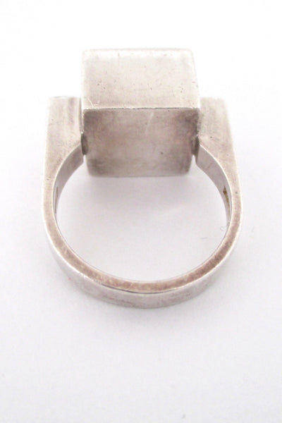 Alton heavy silver & ebony ring
