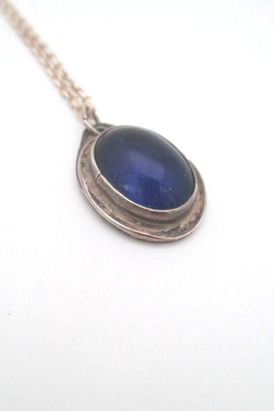 Rafael Canada sterling silver 'mood stone' pendant necklace