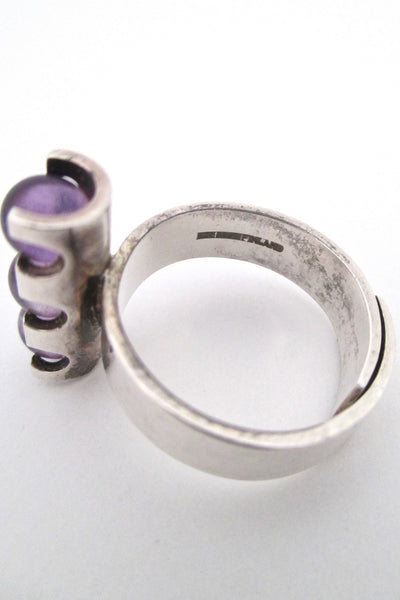 Elis Kauppi three spheres amethyst ring