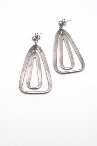 Darla Hesse kinetic silver double drop earrings