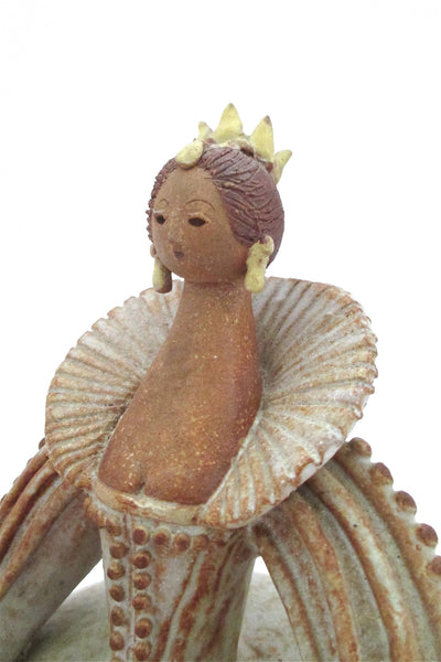 Lorraine Herman Canadian Studio Pottery glazed stoneware queen woman sculpture