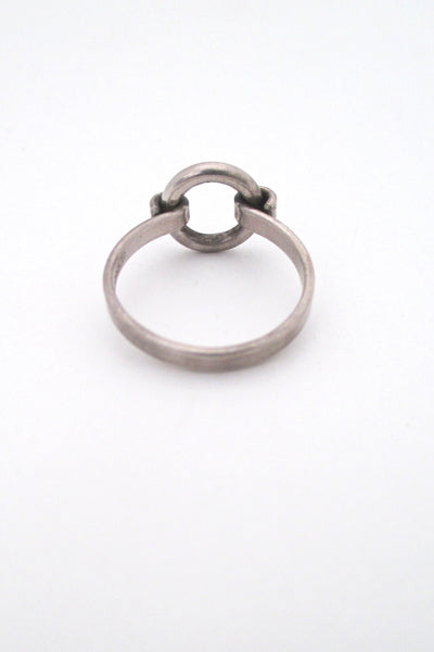 Bent Knudsen little silver circle ring