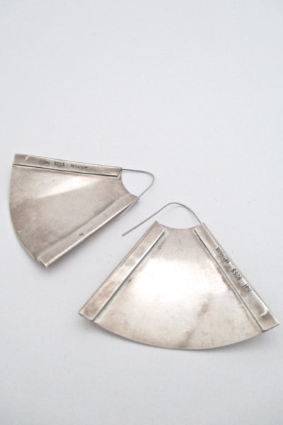 Hans Hansen Denmark large silver earrings - rare