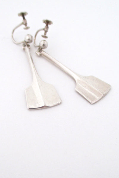 David Andersen Norway vintage silver drop earrings at Samantha Howard Vintage