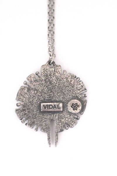 Guy Vidal round pendant necklace