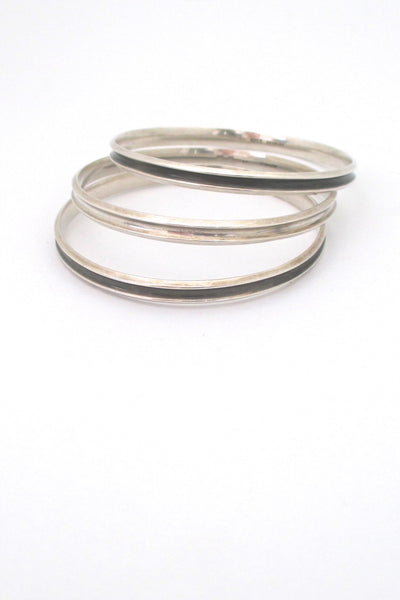 Hans Hansen grooved silver bangle