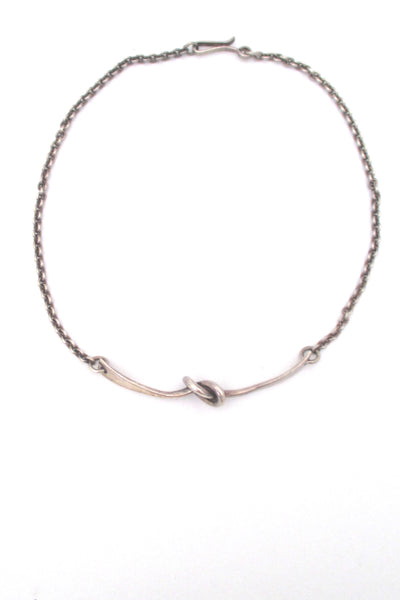 Andreas Mikkelsen silver knot necklace