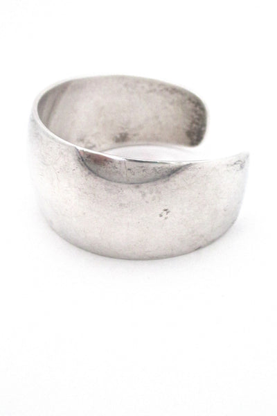 profile Ove Wendt for Age Fausing Denmark heavy vintage silver cuff bracelet Danish Modern Design