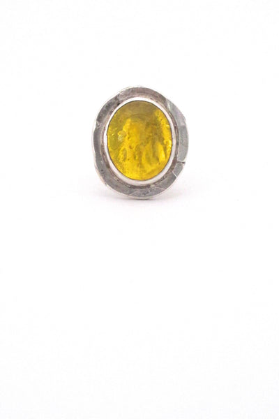 Rafael Canada sterling silver & lemon yellow ring