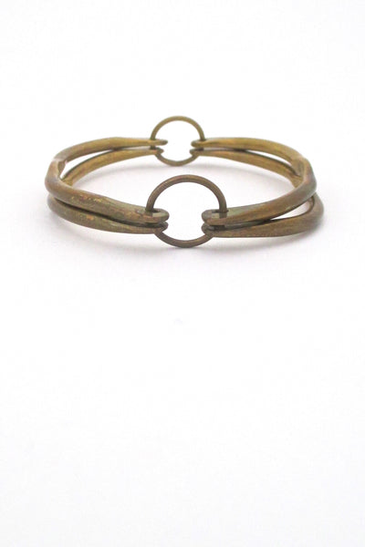 Rafael Canada - unusual hinged brass bangle