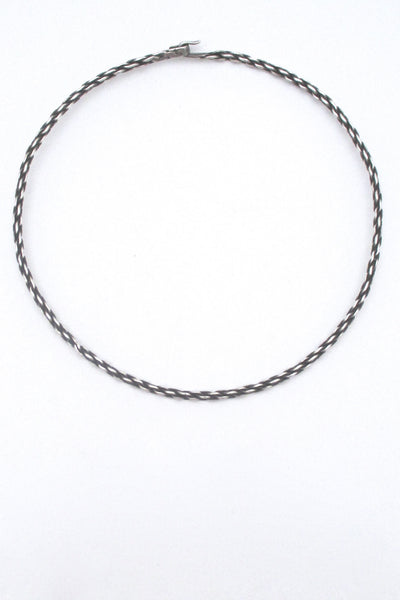 Georg Jensen woven silver neck ring #A72