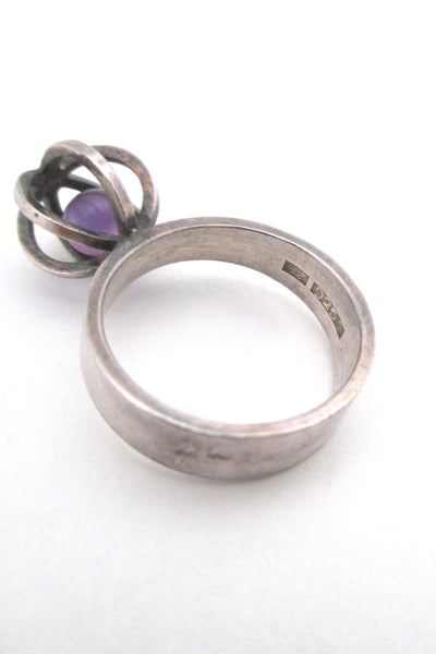 Elis Kauppi 'caged amethyst' ring