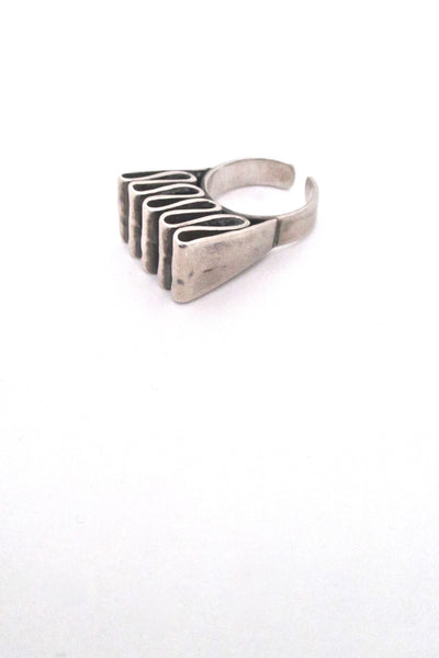 Franz Scheuerle large 'silver ribbon' ring
