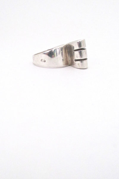 vintage silver large open loop ring