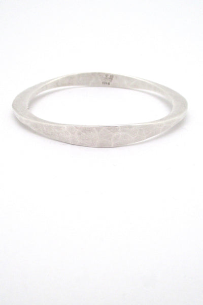 detail Tone Vigeland Plus Studios Norway Design vintage hammered silver bangle bracelet