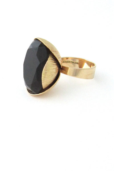 Elis Kauppi, Finland gold & smoky quartz cocktail ring