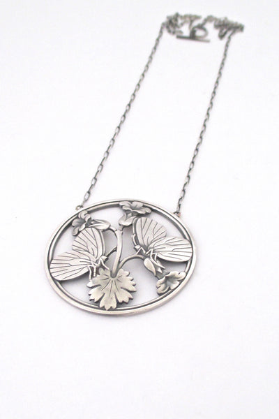 Georg Jensen 'butterflies' large pendant necklace #105