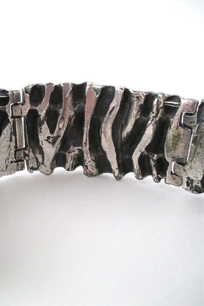 Guy Vidal large 'gathered folds' bracelet
