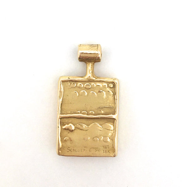 Walter Schluep 18k gold and diamond pendant