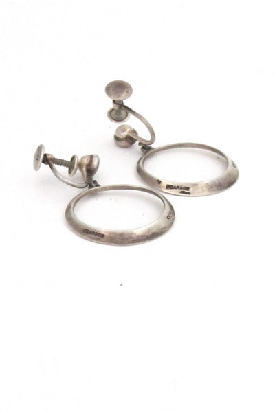 American Modernist Ronald Hayes Pearson silver earrings