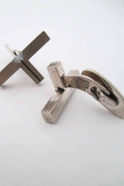 N E From modernist cufflinks