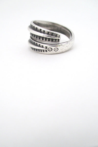 profile David Andersen Norway vintage Scandinavian silver Saga ring Nordic design