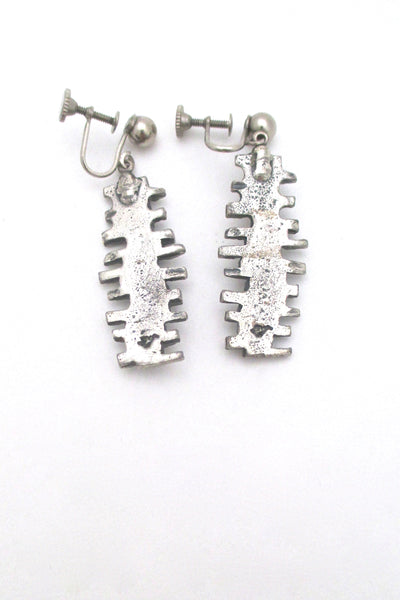 Guy Vidal 'stacked stones' drop earrings