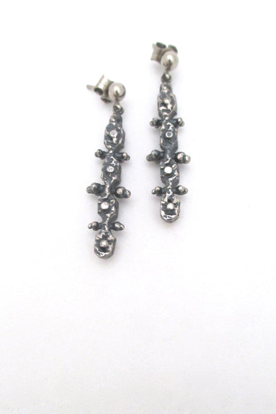 Guy Vidal 'knobbly' drop earrings