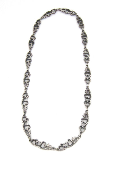 Guy Vidal brutalist openwork necklace